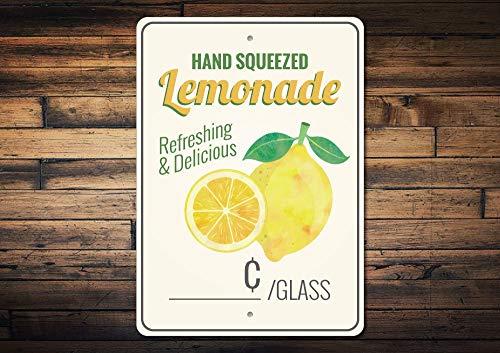 d Zitrone Dekor Lemonade Schild Lemonade Stand Schild Lemonade Decor Zitrone Küche Decor Zitrone Geschenk Qualität Metall 20,3 x 30,5 cm ()