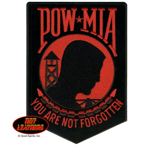 hot-leathers-pow-mia-you-are-not-forgotten-biker-iron-on-saw-on-rayon-patch-3-x-4