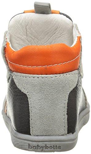 Babybotte Fredon, Chaussures Bébé marche bébé garçon Gris (068 Gris/Orange)