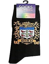 Heraldic Family Crest Cotton Socks for Men BIRD (UK: 6-11 / EUR: 40-45)
