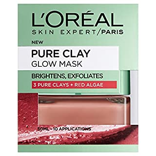 L'Oreal Paris 3 Pure Clays and Red Algae Glow Mask, 50 ml
