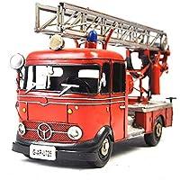 VJUKUB Antiguo Retro Hierro Arte Volkswagen Fuego camión Modelo hojalata Hecho a Mano Arte Retro de Hierro casa decoración decoración de Coches arreglo de fotografía Props 29 * 11.5 * 13.5 cm