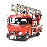 VJUKUB Antique rétro Iron Art Volkswagen Fire Camion modèle Fer Hand Made rétro Iron Art Home Voiture décoration décoration Arrangement Photographie Props 29 * 11.5 * 13.5 cm