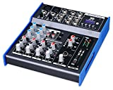 Pronomic M-602FX-MP3 Live/Studio Mischpult mit USB Schnittstelle (2 Mono-Kanäle XLR/Klinke, 2 Stereo Kanäle, MP3-Player, Bluetooth, Effektgerät, 3-Band-EQ, 48V Phantomspeisung)