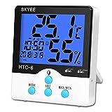 SKYEE Termómetro Higrometro Digital Interior, Medidor de Temperatura y Humedad con...
