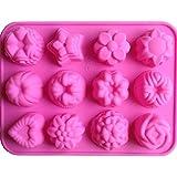 LYNCH Surtido de flor en forma de torta de la pasta de jabón del molde del caramelo Herramientas de silicona