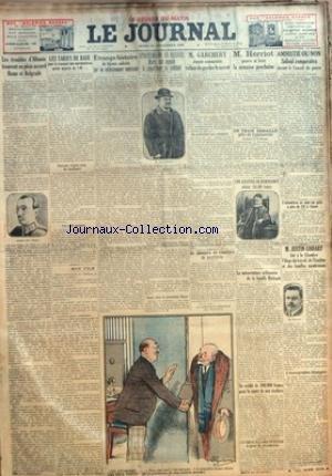 JOURNAL (LE) [No 11750] du 18/12/1924 - LES TROUBLES D'ALBANIE TROUVENT EN PLEIN ACCORD ROME ET BELGRADE - M. GARCHERY DEPUTE COMMUNISTE - M. HERRIOT VA MIEUX - AMNISTIE OU NON - SADOUL DEVANT LE CONSEIL DE GUERRE - STRESEMANN SE RECUSE - MARX EST APPELE A CONSTITUER LE CABINET - UNE GRAVURE DE REMBRANDT - JUSTIN GODART - EOGE DU TRAVAIL - DE L'HYGIENE ET DES FAMILLES NOMBREUSES par Collectif