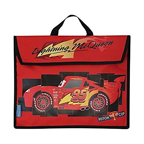 Image of Boys Disney Cars Lightning Mcqueen Character Top Handle Soft Book Bag Red One Size