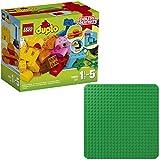 LEGO Duplo 2er Set 10853 2304 Kreativ-Bauset bunte Tierwelt + Grüne Bauplatte
