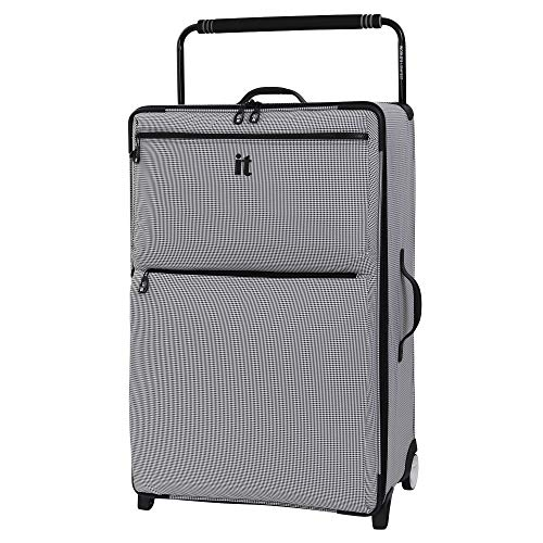 it luggage World's Lightest Urbane 2 Wheel Super Lightweight Suitcase Large Koffer, 83 cm, 102 liters, Grau (Black/White Two Tone)