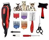 Pritech Tondeuse haute puissance avec câble silencieux pour animaux domestiques avec kit professionnel et étui de rangement PR-2063