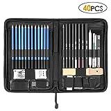 FIXKIT 40pcs Professionelle Skizzierstifte Set, Zeichnung Bleistifte Werkzeug, geeignet für Künstler,  Student, Lehrer oder Anfänger