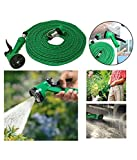 #7: Water Spray Gun 7 Mode With 10 Meter Hose Pipe For Garden/car/bike/pet Wash Multicolor (Pack of 1)-Luvina