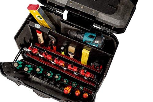 Parat Evolution Werkzeugkoffer mit CP-7-Werkzeughaltern, schwarz/silber (Ohne Inhalt) - 3