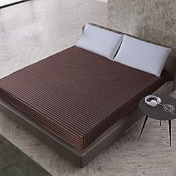 SUYUN Housse pour Matelas Respirante, Housse de Protection pour Matelas avec,Couvre lit imperméable Lavable en Machine vin Rouge 200cmX220cmX30cm