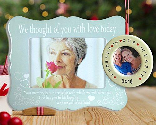 Banberry Designs Ich Dachte, von Ihnen mit Liebe Heute-Bild Rahmen und Ornament Combo-datiert Foto Weihnachten Ornament Forever in Our Hearts