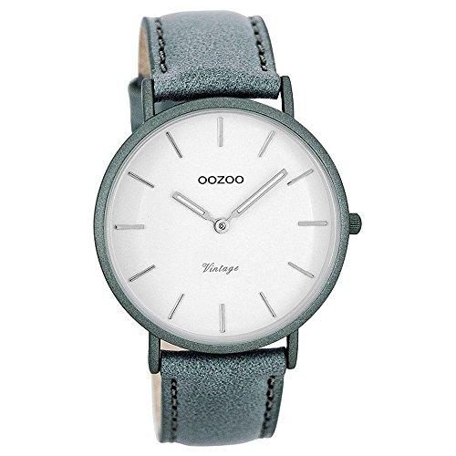 Oozoo Damen Digital Quarz Uhr mit Leder Armband C7739