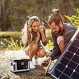 RENZHEN G500 500Wh 300W AC/DC 12V Générateur Solaire Rechargeable Portable de la Centrale électrique pour Le Camping d'urgence en Voiture en Plein air...