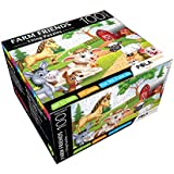 Pola Puzzles Farm Friends Tiling Puzzles 100 Pieces For Kids Age 5 Years And Above Multi Color Size 36CM X 34CM Jigsaw Puzzles For Kids