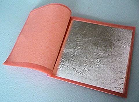 25x 95mm Pure 999 Silver Edible Loose Leaf Sheets in Booklets, Huge! 9.5cm 3.75 inches by VantageCC