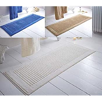 Extra Long Bath Mat  800gsm In x3 Colours Cream  Blue or Latte  Cream. Extra Long Bath Mat  800gsm In x3 Colours Cream  Blue or Latte