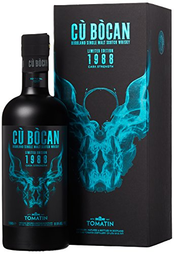 Tomatin Cù Bòcan Cask Strength Limited Edition Whisky mit Geschenkverpackung 1988 (1 x 0.7 l)