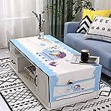 DDMY Tischdecke wasserdichte Tischtuch Wohnzimmer Rechteckige Abdeckung Tuch Tuch Tuch Tisch Tisch Matte Kühlschrank Staubabdeckung 60X170 Größe Happy Baby Elephant