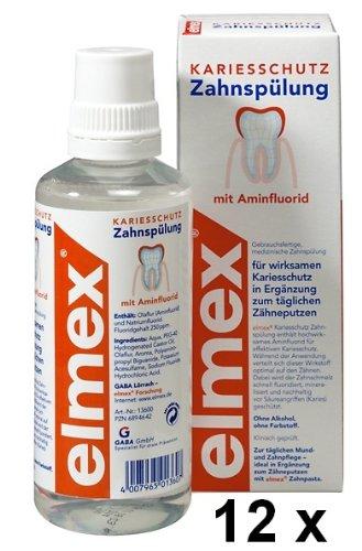 12 elmex KARIESSCHUTZ Zahnspülungen je 400 ml