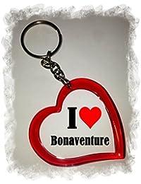 """EXCLUSIVO: Llavero del corazón """"I Love Bonaventure"""" , una gran idea para un regalo para su pareja, familiares y muchos más! - socios remolques, encantos encantos mochila, bolso, encantos del amor, te, amigos, amantes del amor, accesorio, Amo, Made in Germany."""