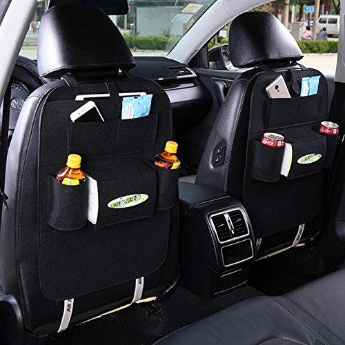 Alger car seat stoccaggio borsa hanging bag organizer copertura protettiva auto stuoie sedile posteriore borsa multi-purpose auto box di stoccaggio 1pcs , black