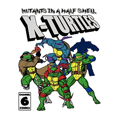 Mutants In A Half Shell X Turtles TMNT X Men Women's Vest White