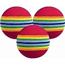 Longridge PAFBM6 - Set pelotas de espuma para práctica de golf, 6 piezas, multicolor