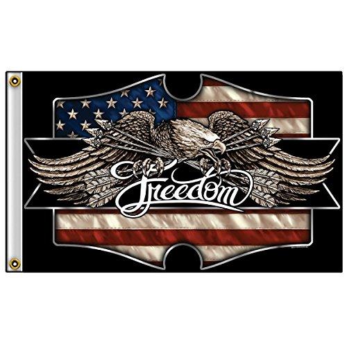 Biker Flag - FREEDOM EAGLE - 3