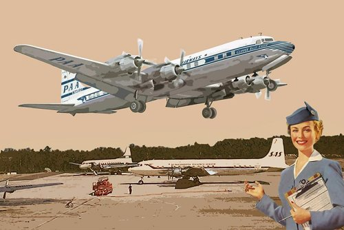 s DC-7C four engines airliner Pan American Airlines 1950 (japan import) ()