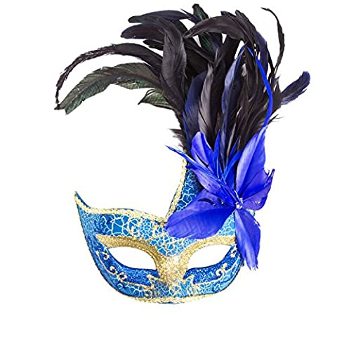 Beddingleer Toys Games Dressing Up Accessories Masks Princess Venetian Mask Colorful Painting Greek Roman with Feather for a Anonymous mask for fancy dress party or gathering