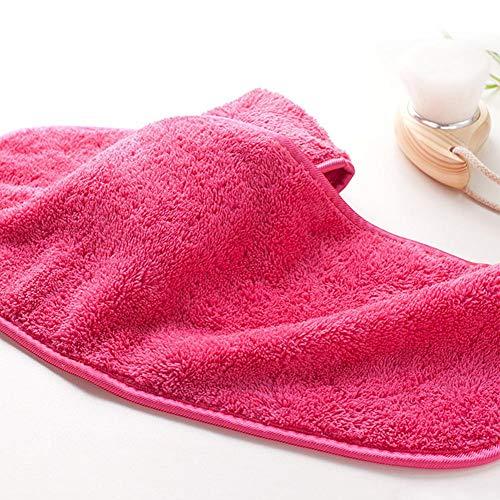 getherad Microfibre Serviette de Maquillage Serviettes Démaquillantes pour Le Visage Lavable et Réutilisable, Rose