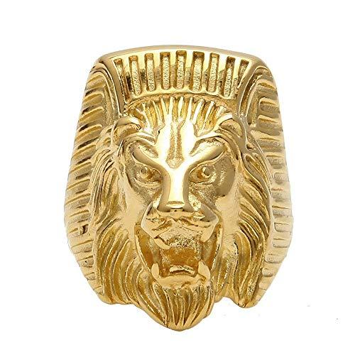 7477ae27f4ec BOBIJOO Jewelry - El Anillo de sellar el Hombre de Egipto con Cabeza de León  Faraón