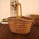 Nn-basket Ablagekorb picknickkorb Rattan ablagekorb pastoralen webkorb tragbare Ei einkaufskorb 44 * 30 * 25cm