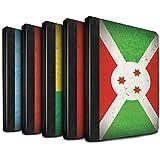 STUFF4 PU-Leder Hülle/Case/Brieftasche für Apple iPad 2/3/4 tablet / Pack 21pcs Muster / Afrika Flagge Kollektion