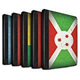 STUFF4 PU Leather Book/Cover Case for Apple iPad 2/3/4 tablets / Pack 21pcs Design / African Flag Collection