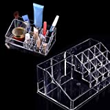 HibiscusElla Makeup Cosmetic Organzier Case Clear Acrylic Drawers Jewelry Storage Box Holder Display Acrylic Stand Lipstick Cosmetics