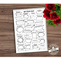 Geburtstag Gästebuch Poster, Gästebuch-Idee und Alternative, Print mit vorgedruckten Fragen A3