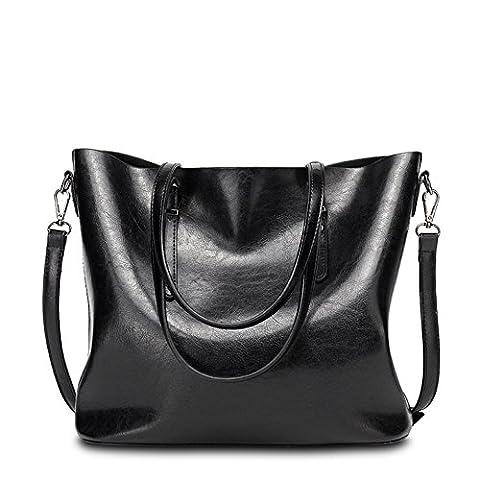 VANCOO Womens Leather Purse Ladies Large Tote Bag Shoulder Handbag 1108