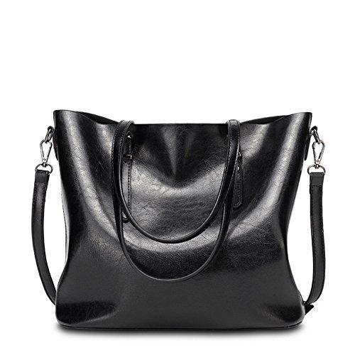 VANCOO Womens Leder Geldbörse Damen große Tasche Schulter Handtasche 1108 (Voll-leder-schulter-handtasche)