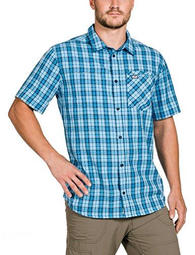 Jack Wolfskin Herren Hemd Arthurs Vent Shirt M Turquoise Checks