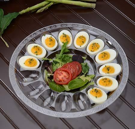 Eierschale aus Hartplastik, Würfelform, Eierplatte, für je 15 Eier geeignet, 30 cm Devilled Egg Tray