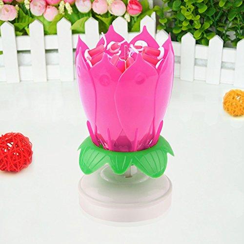 Primero-de-Torta-Pasteles-Vela-Musical-Flor-de-Loto-Decoracin-Para-Fiesta-Cumpleaos-Rosado