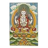 Prime Feng Shui Seiden-Stickerei Tibetische Thangka mit