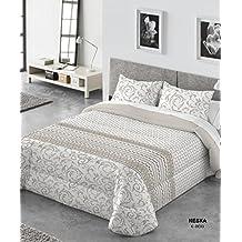 Comforter Kabely Neska Ropa de Cama, Poliéster, Beige, 180x270x3 cm