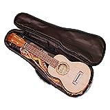 """MUSIC FIRST Cotton 23\""""/24\"""" Concert Pink Geometric Patterned Ukulele Bag Ukulele Cover Ukulele Case Version 2.0"""